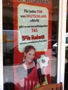 Rabatt nach jedem Gewinn der Deutschen Mannschaft